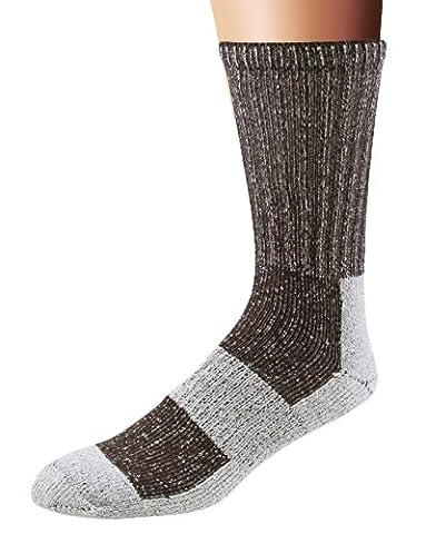 Fox River Outdoor Wick Dry Euro Medium Weight Crew Socks, Large, Brown