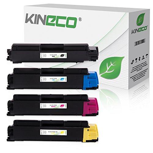 4 Toner kompatibel zu Kyocera TK580 ECOSYS P6021 CDN FS-C 5150 DN - TK580K TK580C TK580M TK580Y - Schwarz 4.000 Seiten, Color 3.000 Seiten (Refill 4 Patrone Toner)