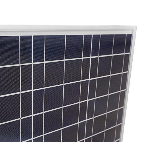ECO-WORTHY 50W Solarmodul 12V Solarpanel - Polykristallin Photovoltaik Offgrid Power Camping Caravan Garten -