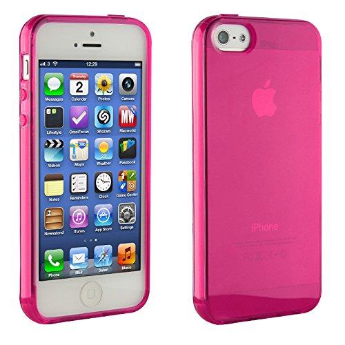 Urcover® iPhone 5c Hülle, TPU / Silikon Schutzhülle Ultra Slim Transparent Crystal Clear durchsichtig Klar Case Cover Smartphone Zubehör Schale Handyhülle für Apple iPhone 5c Farbe: Grau Pink