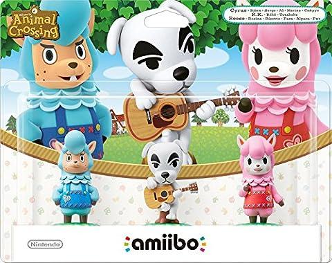 Pack de 3 Amiibos 'Animal Crossing' - Kéké + Risette + Serge