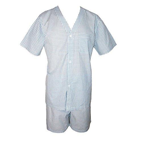 Geoffrey Beene Men's Broadcloth Short Sleeve Short Leg Pyjama Set