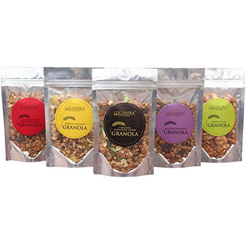 Cocosutra Granolas 5-In-1 Pack Breakfast Cereal With Oats, Nuts, Seeds And Dry Fruits (500G)