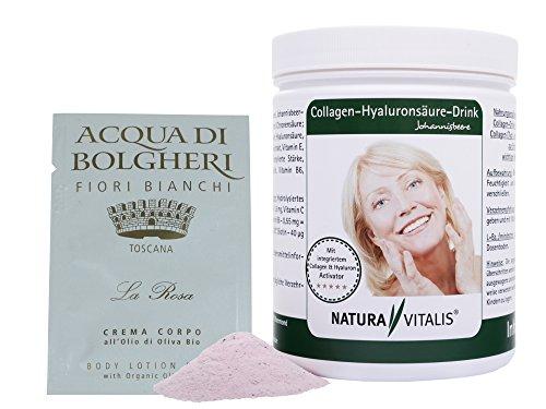 Natura Vitalis Collagen-Hyaluronsäure-Drink 800g + Dr. Taffi Probe