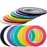 Nova supplys 1/4in X 60yd color cinta de carrocero, 8unidades. Profesional Grado–es Super fino, se ajusta a superficies irregulares, es fácil a Tear y liberación para etiquetado, pintura, y decoración.