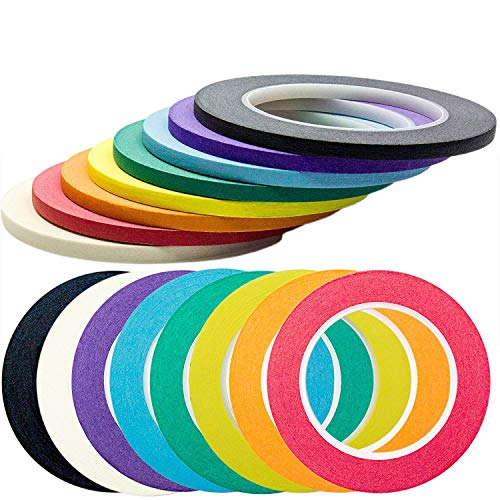 Nova supplys 1/4in X 60yd color cinta de carrocero, 8 unidades. Profe
