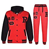 A2Z 4 Kids® Kinder Mädchen Jungen Baseball Trainingsanzug NYC FOX Jacke & Hose - T.S Baseball FOX Red & Black 7-8