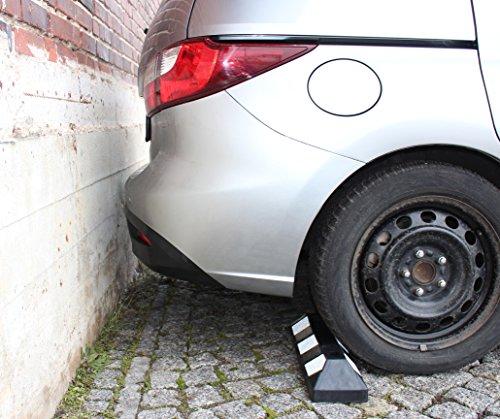 Evofaktur ferma ruote per auto set 2 pezzi in gomma for Kit per posto auto coperto