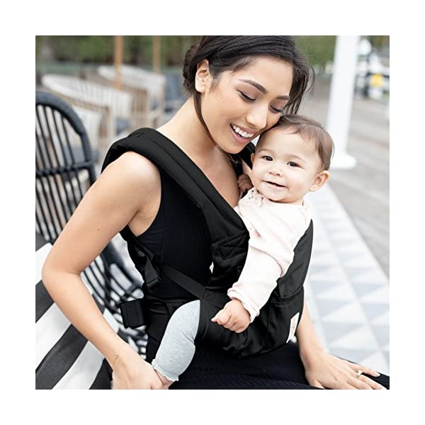 """Ergobaby Baby Carrier for Toddler Pure Black, Original 3-Position Child Carrier 5.5 to 20kg with Lumbar Support, Front Backpack Ergobaby Ergonomic babycarrier - ergonomic for baby with wide deep seat for a spread-squat, natural """"m"""" seated position. Baby carrying system with 3carry positions:  front-inward, hip and back. from baby to toddler: 5.5*-20kg Maximum wearing comfort - lumbar support waist belt (adjustable from 66-140cm / 26-52in) that can be adjusted to the height of the carry position. 5"""