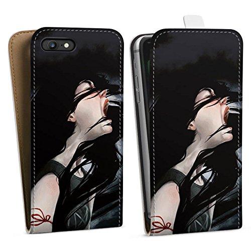 Apple iPhone X Silikon Hülle Case Schutzhülle Schrei Mädchen Kunst Downflip Tasche weiß