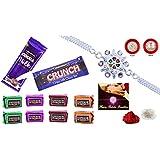 Rakhi Combo - Rakhi With Chocolate (Silver Color / Plated Rakhi) With Choclate Combo (R1_X3_C10)   Rakhi Gifts...