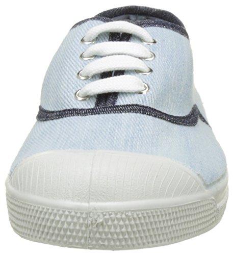 Bensimon - Tennis Lacet Bleached Denm, Basse Donna Blu (Bleu)