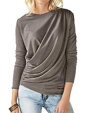 Luxspire Camiseta de mujer de manga larga con cuello redondo casual ,Blusa Camisa para mantener calientede Invierno...