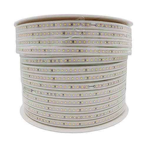 LED-Beleuchtungsstreifen RGB SMD 5050 2835 LED-Beleuchtungsstreifen für die Weihnachtsdekoration in der Küche Warmweiß, 220 V, flexibel, für den Innen- und Außenbereich, ideal für Hinterhöfe, dekorati -