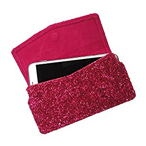 i-KitPit : PU Leather Pouch Case With Magnetic Closure For Maxx MSD7 3G AX45 (PINK)
