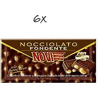 6x Novi Nocciolato Extra Fondente Dunkle Schokolade Zartbitter haselnuss 130 gr