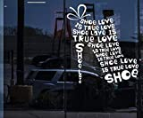 autocollant mural stickers muraux chambre Chaussures femme chaussure magasin chaussure love is true love
