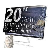 Xianan 20 Zoll 16:10 Breitbild Displayfilter Bildschirmfilter 17,1x10,7zoll/434,4x271,9mm Displayschutz Blickschutzfolie Sichtschutzfolie Privacy Filter