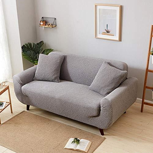 NHFGJ Funda para sofá elástica Antideslizante Color sólido de Punto Multifuncional 1/2/3/4...