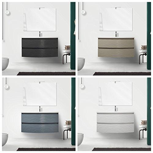Mobile arredo Bagno Curvet 100 cm Disponibile in 4 Colori 2 cassetti lavabo in mineralmarmo I
