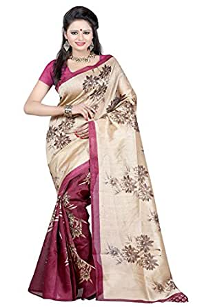Chigy Whigy Cotton Silk Saree (293G11149Ss_1_Magenta)