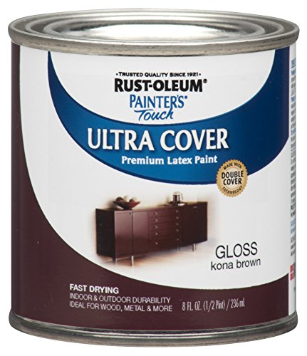 Rustoleum Half Pint Kona Brown Gloss Maler Ber-hren Multipurpose Latexfarbe 19