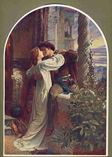 A4 Photo Dicksee Frank 1853 1928 Great Pictures in 1905 Romeo & Juliet Poster 1905 Frank