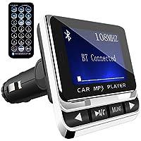 Transmisor FM Bluetooth para Coche, ToHayie Reproductor MP3 Mechero de Coche, Manos Libres Coche, Ranura para Tarjeta de Micro SD, USB Memoria de Audio para Móviles