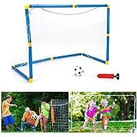 Set de But de Football Ensemble Jouet de Football Goal Entraînement pour Enfants avec Boule Filet Pompe - 90 * 45 * 50cm