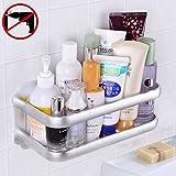 Gricol Badezimmer Duschecke dreieckiges Eckregal Duschwand Duschregal , patentierter Kleber + Doppelseitiges Klebeband, keine Beschädigung an Wandhalterung, für Badezimmer- und Küchenzubehör (Silber 3)