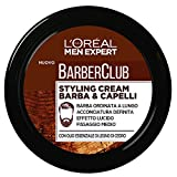 L'Oréal Paris Men Expert Barber Club Styling Cream Crema Modellante per Barba e Capelli, 75 ml