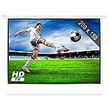 FrontStage PSEC-100 Beamer Leinwand Projektor Leinwand Heimkino Leinwand 200 x 150 cm Bilddiagonale 254 cm 100 Zoll optimiert für HDTV Einfache Montage Robustes Metallgehäuse weiß