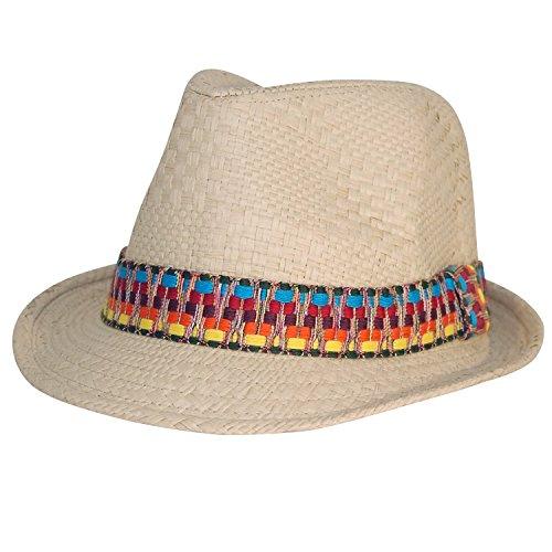Chapeau-tendance - Trilby Homme azteque Beige - - Femme