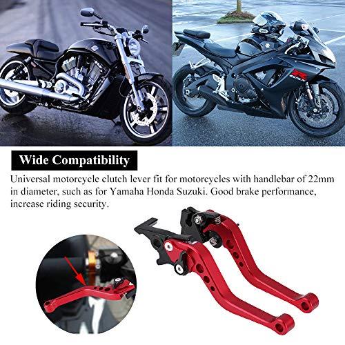 Pad Rojo AnXin 1 1//8 28 mm Manillar Fat Handle Bar Grips Set para Honda Yamaha Kawasaki Suzuki Pit Dirt Bike Off Road Motocicleta Abrazadera de Montaje