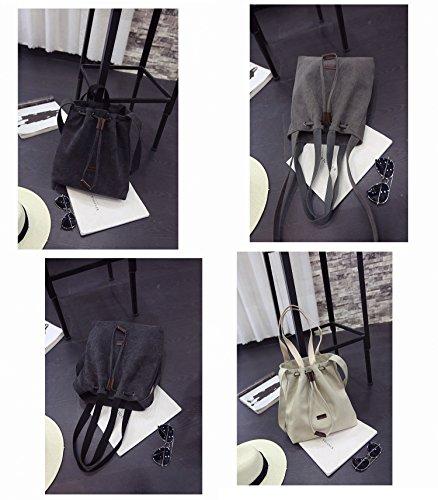 Yokeeyoo , Damen Schultertasche schwarz schwarz One Size cremefarben