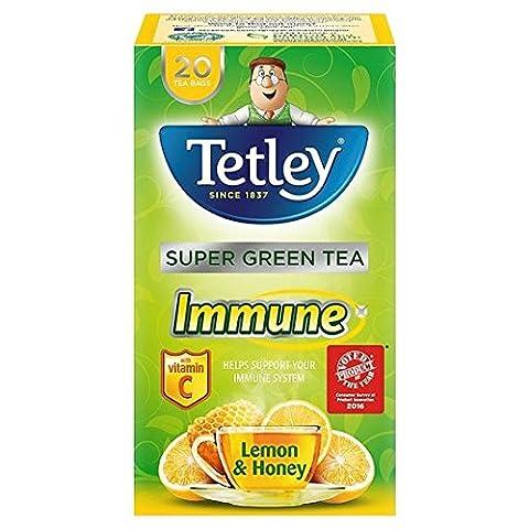 Tetley Super Green Tea Immune Lemon & Honey 20 par paquet