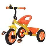 Great St. DGF Enfants Tricycle 3-6 Ans Bébé Poussette Jouet Voiture Vélo Gratuit Gonflable Enfants Vélo ( Color : Orange )