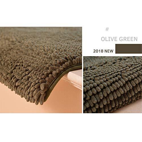 Vioetlly-Home Teppich Bereich Teppich Super Soft Teppich Innen Moderne Teppich Teppich Raumdekoration Anti-Skid Rauschen reduzieren Kinderbodenmatte (Farbe : Olive Green, Größe : 80×160cm) -