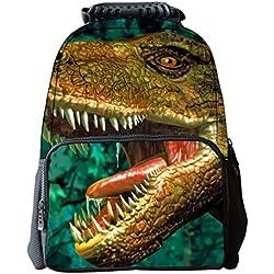 Zrong Multiple función Mochila Alta Calidad de 3D Animales Mochila para chicos y chicas mochila escolar Dinosaurio