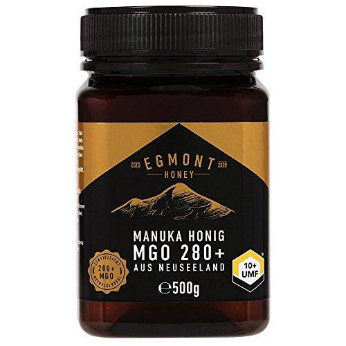 Manuka-Honig 280+ MGO original aus Neuseeland (500 g) UMF 10+ - 100% rein, zertifiziert, natürlich antibakteriell, aktiver Manuka-Honey | Egmont Honey (Manuka-honig Aktiv 10)