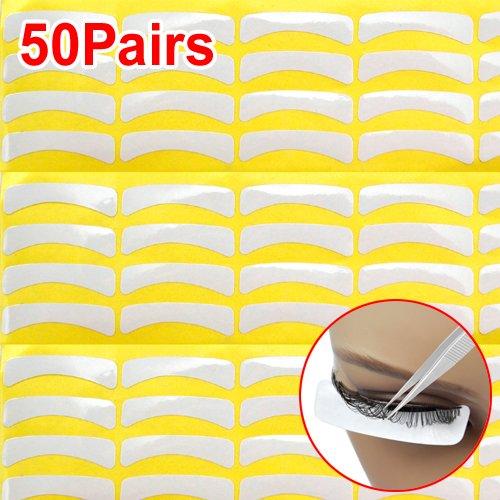 SODIAL(R) 50 Paire Non Peloucheux Sous l'?il Gel Collagene Patchs Tampons Pour Extension de cils