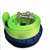 QJONKE -Schleppseil Schleppen Schleifen Nylon Stahlhaken, Grün, 4M oder 5M, 5T