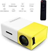 YG300 Mini Portable Projector 400 - 600 Lumens LCD Video Projector Support HDMI / USB / AV / CVBS/ Remote Control for Home Ci