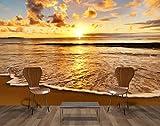 Vliestapete Sonnenuntergang VT409 Größe:400x280cm, Fototapete, Vlies Tapete, High Quality, PREMIUM Bildtapete, Strand Ufer Sonne
