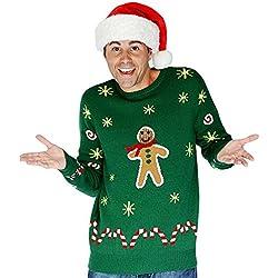 Morphsuits feo hombre de pan de jengibre de adulto La Navidad de punto Jumper Sweater (XL)