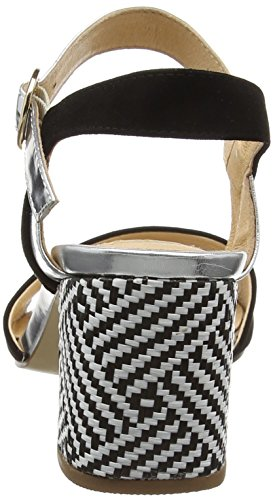 Giudecca Jycx1413-1a, Sandales Ouvertes Femme multicolore (black/silver)