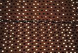 0,5 m * 1,5 m Stoff - 3-D Effekt Filz - gefilzt - braun mit weißen & braunen Punkten / gepunktet - Strickstoff Wolle - Meterware zum Nähen - Strickwalk - dicker Winterstrick - nähen / Polka Dots - Punktestoff