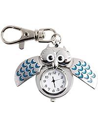 Très Chic Mayo Landa Unisex Búhos Reloj Llavero bolsillos búho UHU llavero llavero Pendent Amuleto de la suerte Joyas