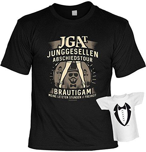Junggesellenabschied witziges T-Shirt für Junggesellenfeier Ehe JGA Shirts JGA Outfit JGA Polterabend Hochzeit Junggesellen Abschiedstour Schwarz