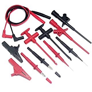 Aidetek Automotive Test Lead Kit Insulation Piercing test clip Large Crocodile Clips Flexible spring for FLUKE Multimeter meter test probes test leads set probe CE certificate TLP20163